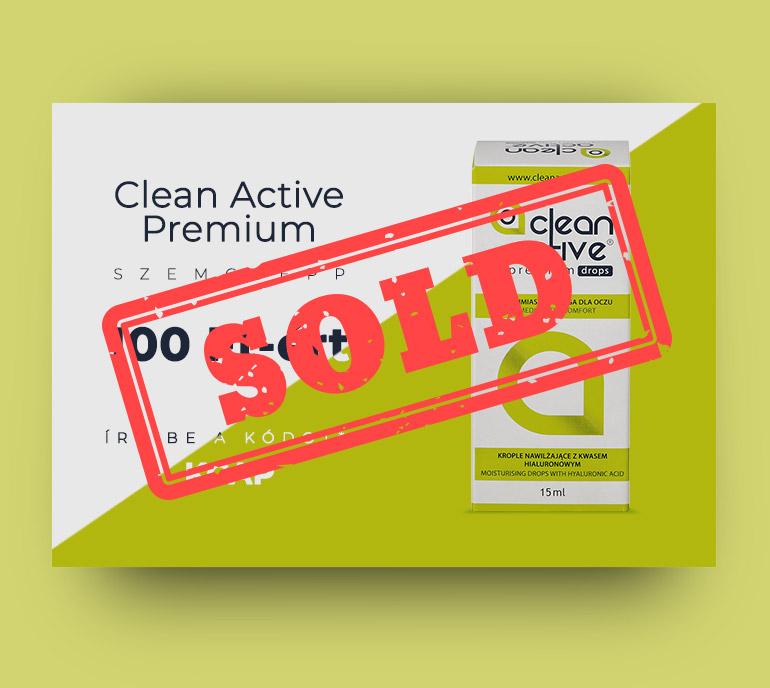Clean Active Premium szemcsepp 100 Ft-ért!
