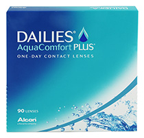 DAILIES AquaComfort Plus 90 db + Kontaktlencsék ajándékba (2dobozhoz)