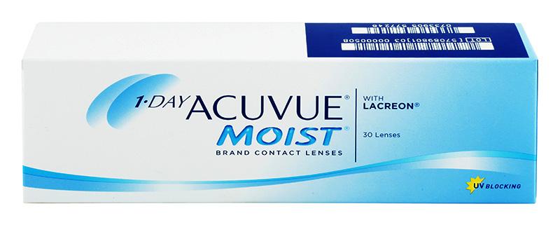 Acuvue 1-DAY Moist™ 30 db + ajándék napi lencse (2 doboz vásárlása esetén)