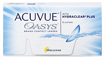 Végkiárusítás - Acuvue® Oasys with Hydraclear® Plus 6 db