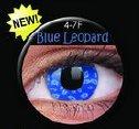 soczewki kolorowe Crazy Lens Blue Leopard
